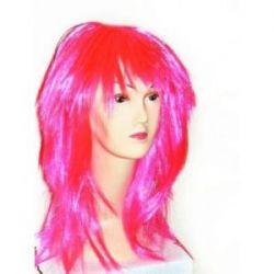 Parochňa dlhé vlasy ružové