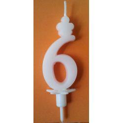 Sviečka veľké číslo 6
