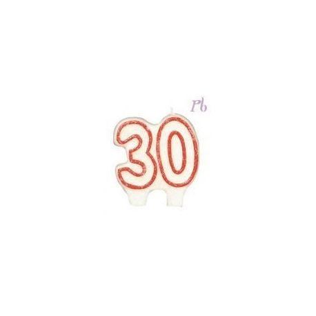 Sviečka veľké čáslo 30