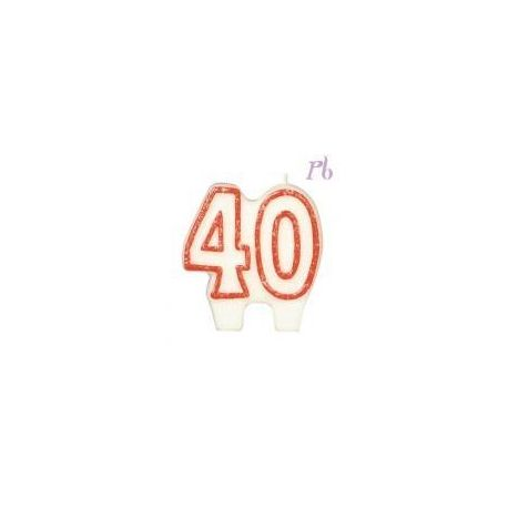 Sviečka veľké číslo 40