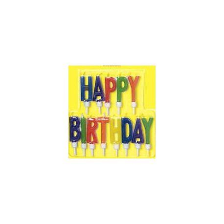 Sviečky Happy Birthday